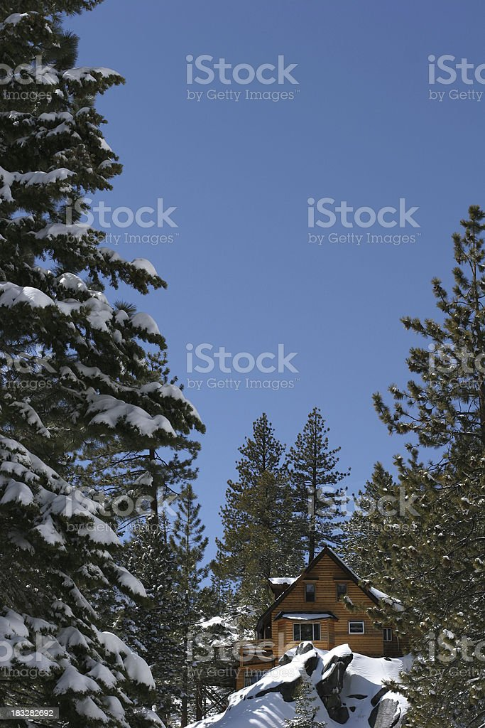 Secluded on top of the mountain royalty-free stock photo