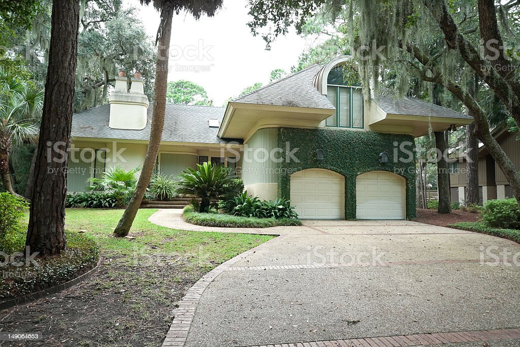 Secluded Single Family House, Hilton Head, South Carolina stock photo