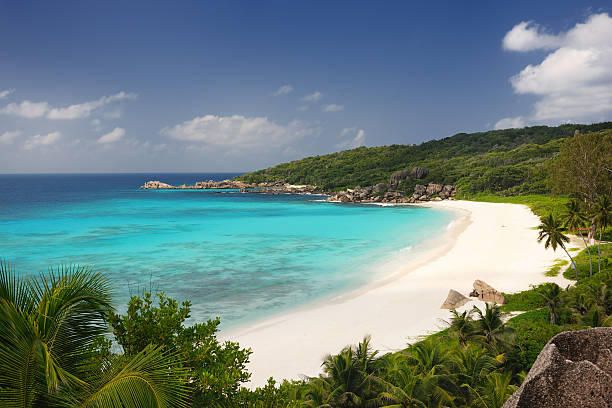 Secluded Tropical Bay stock photo
