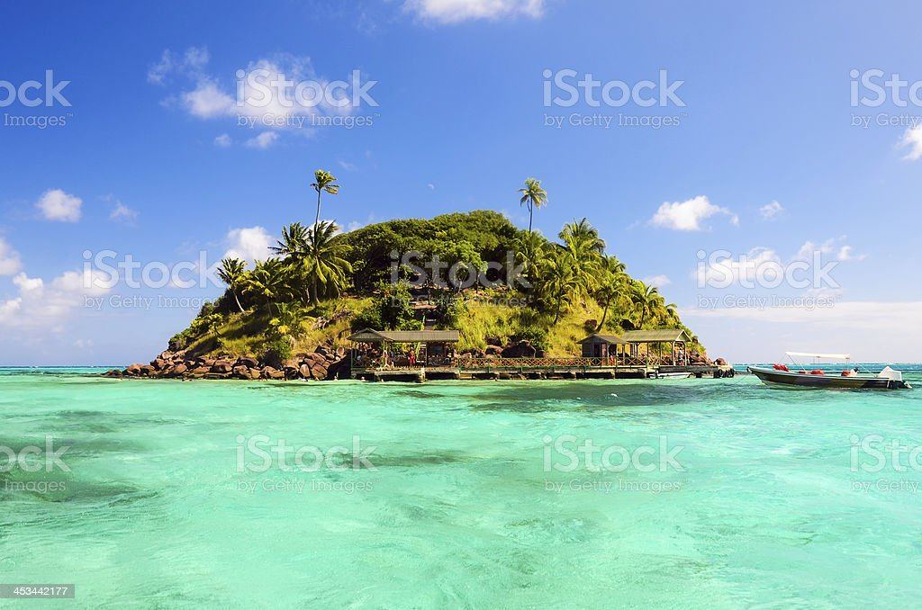 Secluded Tropical Island stock photo