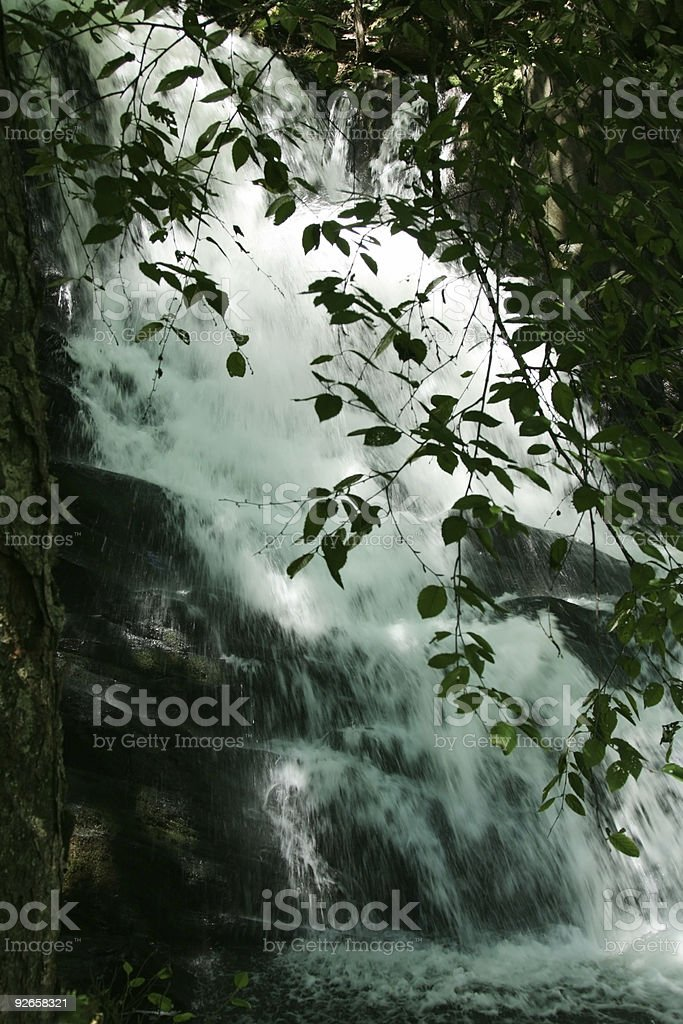Secluded Waterfall royalty-free stock photo