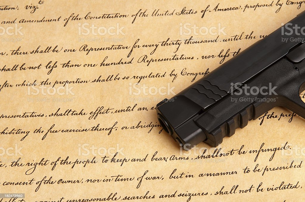 Second Amendment royalty-free stock photo