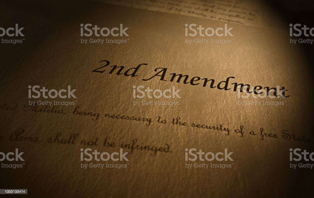 Second Amendment text stock photo