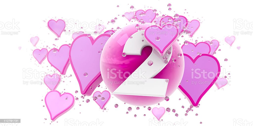 Second anniversary royalty-free stock photo