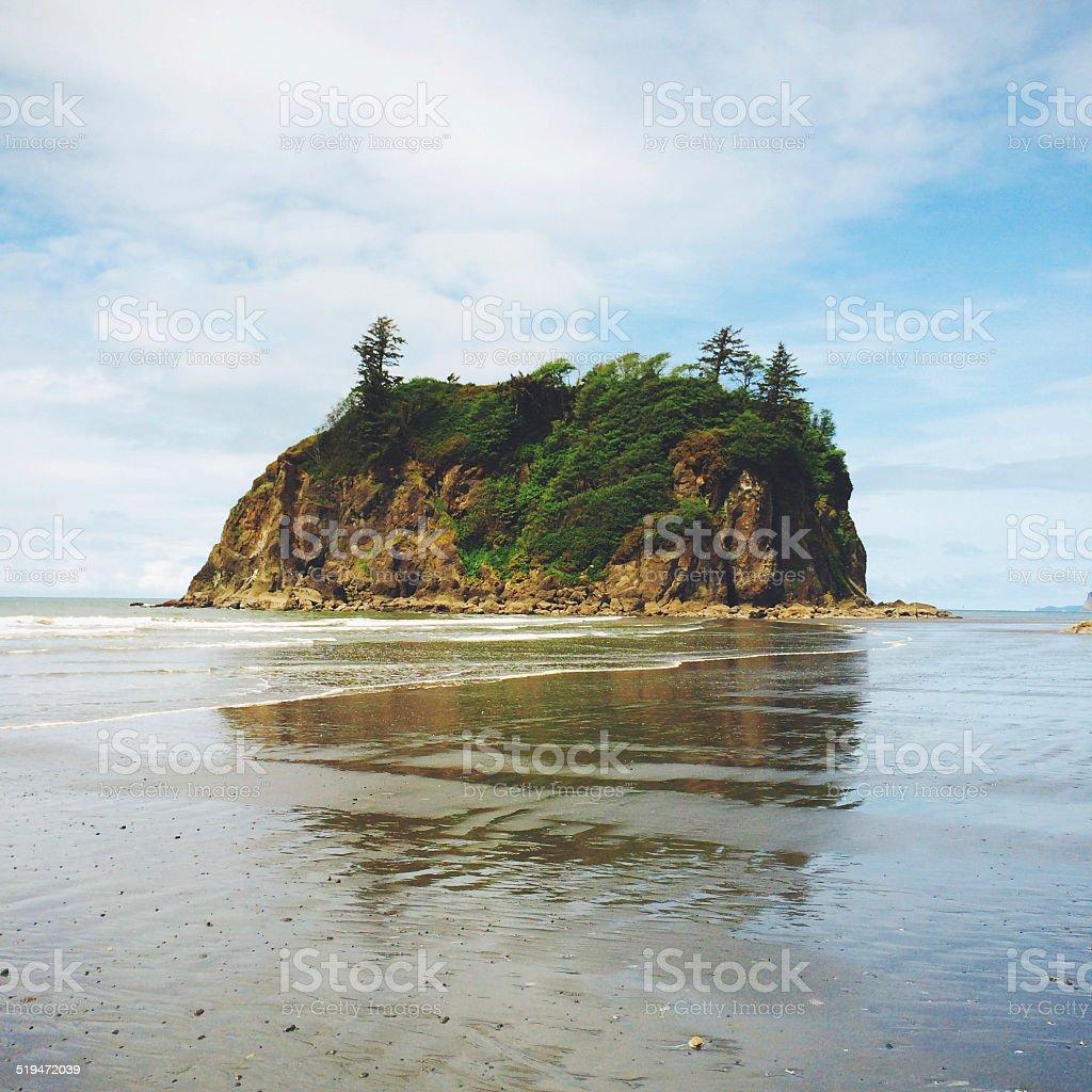 Second beach along the Pacific coast, USA stock photo
