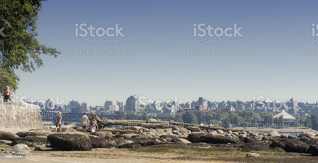 Second Beach in Stanley Park, Vancouver, Canada stock photo