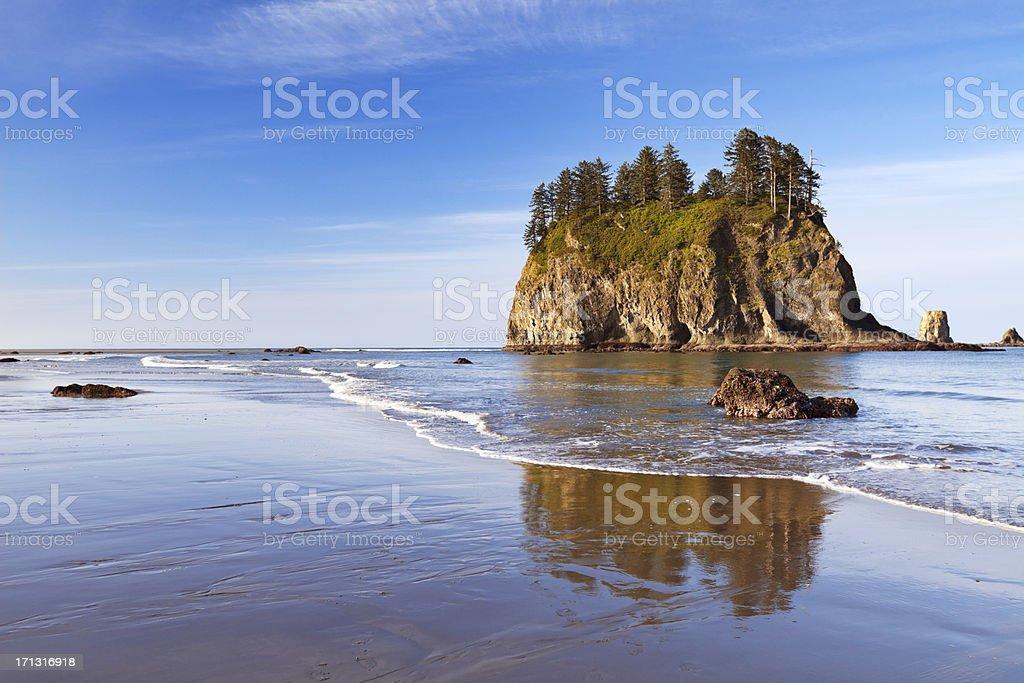 Second Beach on the Olympic Peninsula, Washington, USA stock photo