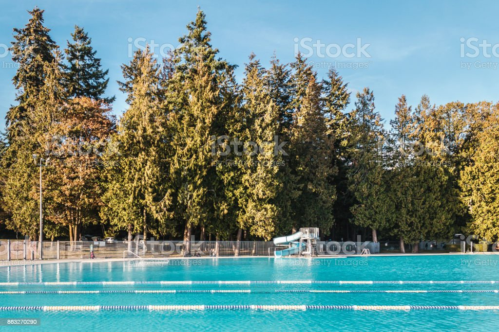 Second Beach Pool near Stanley Park in Vancouver, Canada stock photo