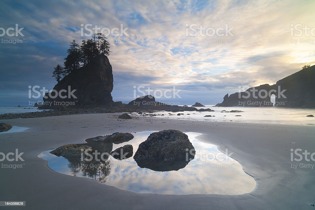 Second Beach Sunset, Olympic National Park, W.A stock photo