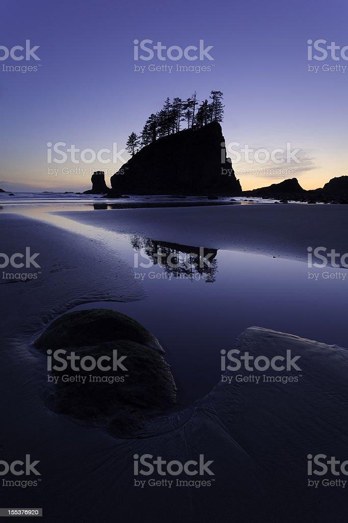 Second Beach Twilight stock photo