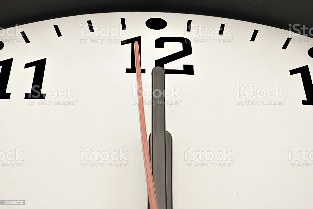 Second before midnight stock photo