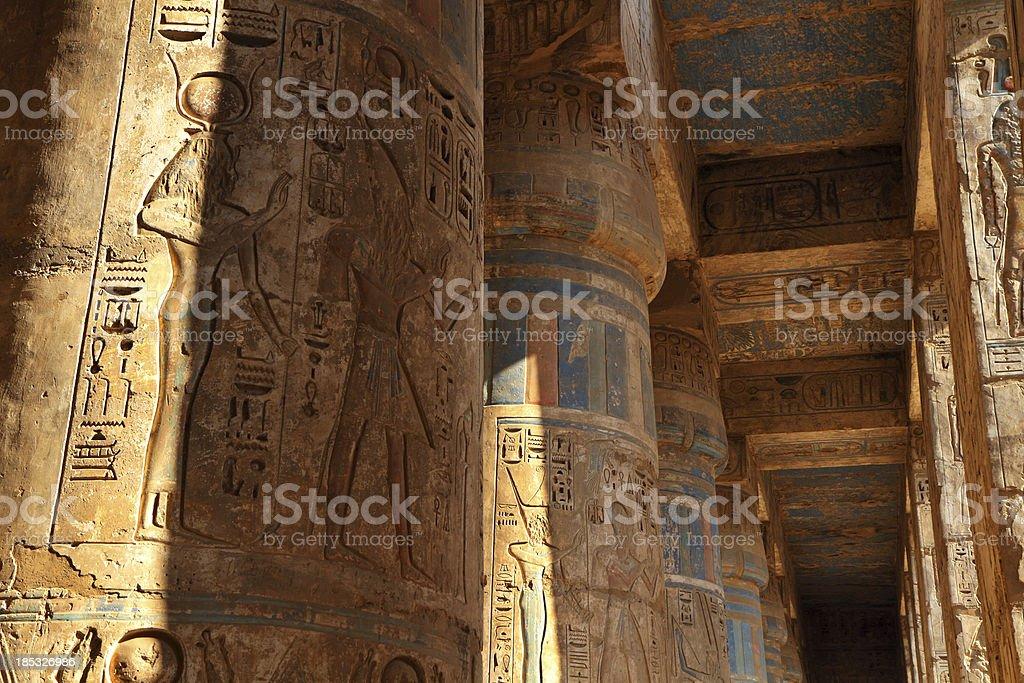 Second Courtyard Portico, Medinet Habu, Theban Necropolis, Luxor, Egypt stock photo