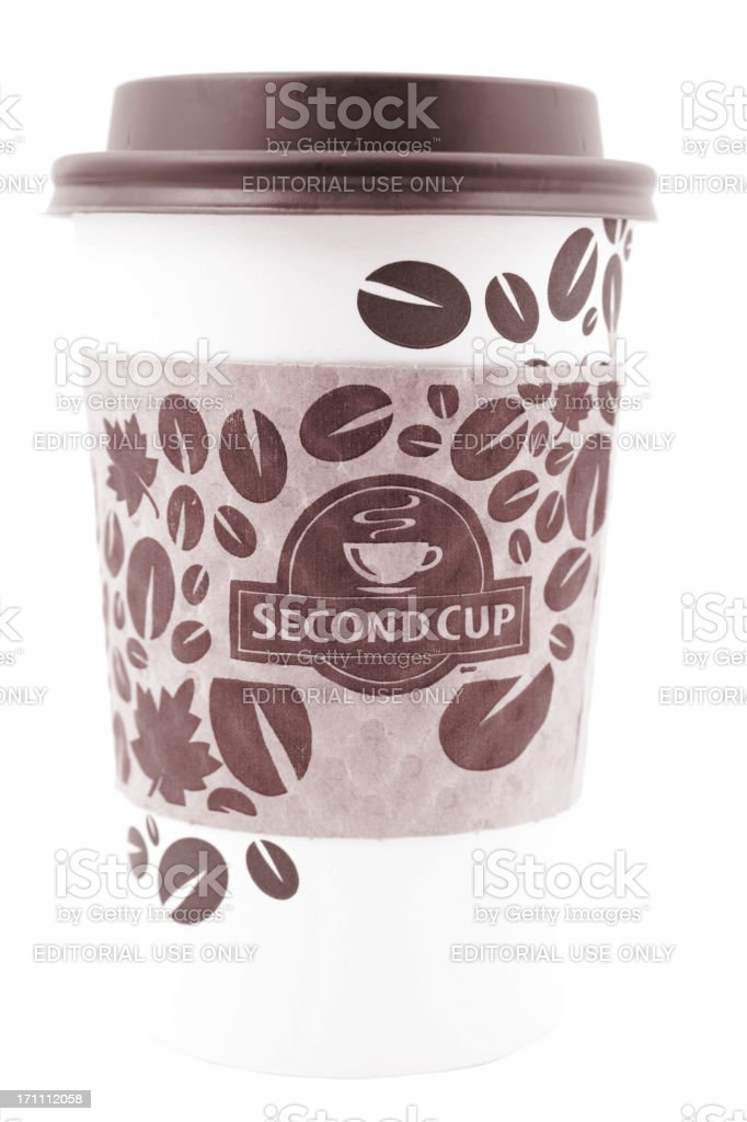 Second Cup coffee royalty-free stock photo