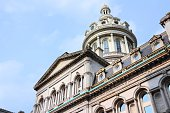 Baltimore, Maryland. City Hall building. Second Empire architecture style.