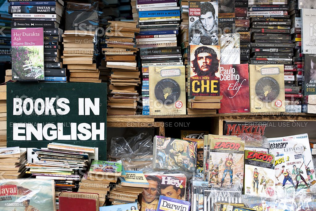 Second hand book bazaar royalty-free stock photo