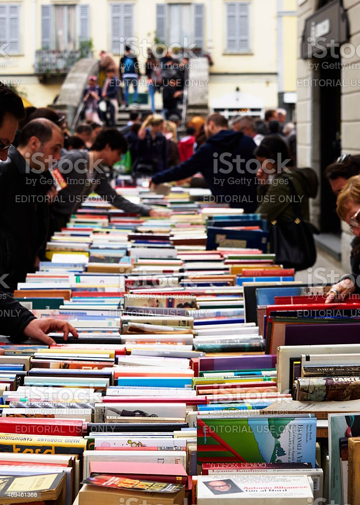 Second hand books. Color Image stock photo