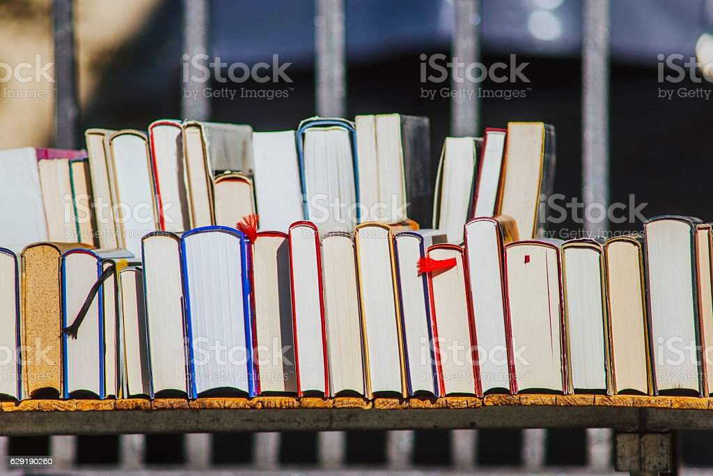 Second hand books stock photo