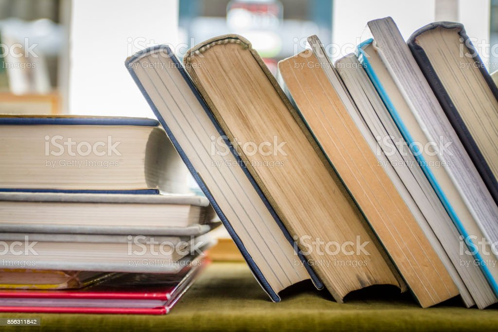 Second hand books stock photo