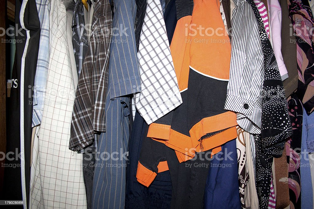Second Hand Clothing Wardrobe stock photo
