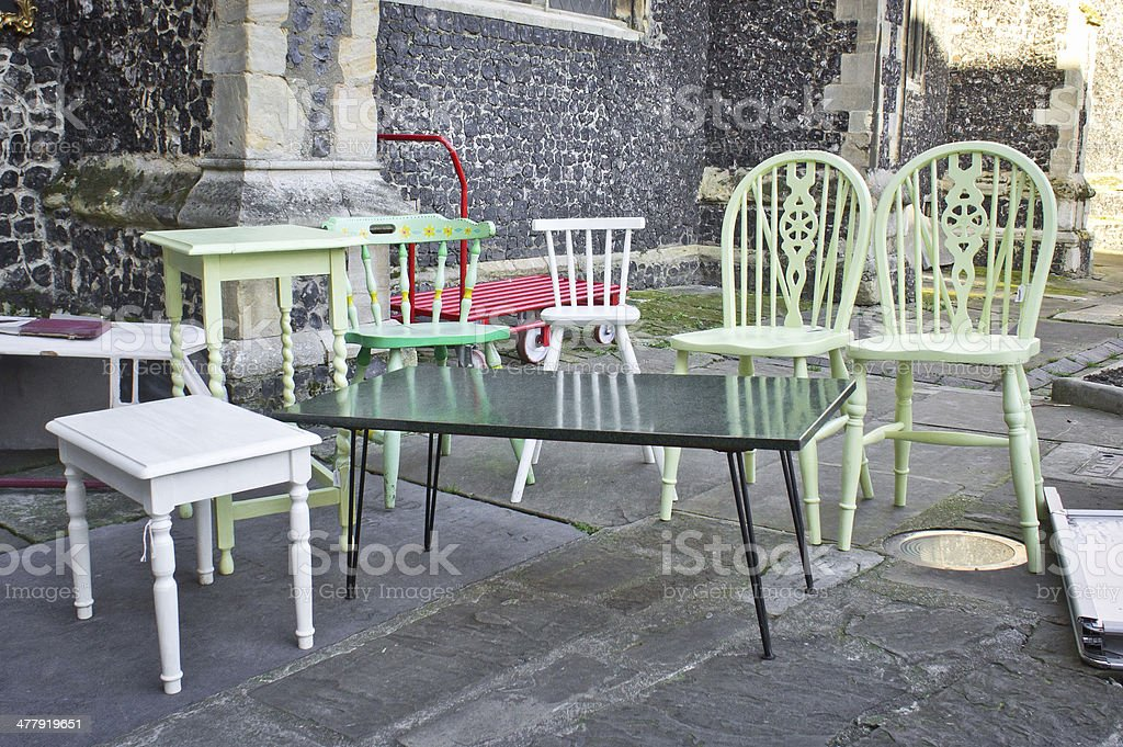 Second hand furniture stock photo