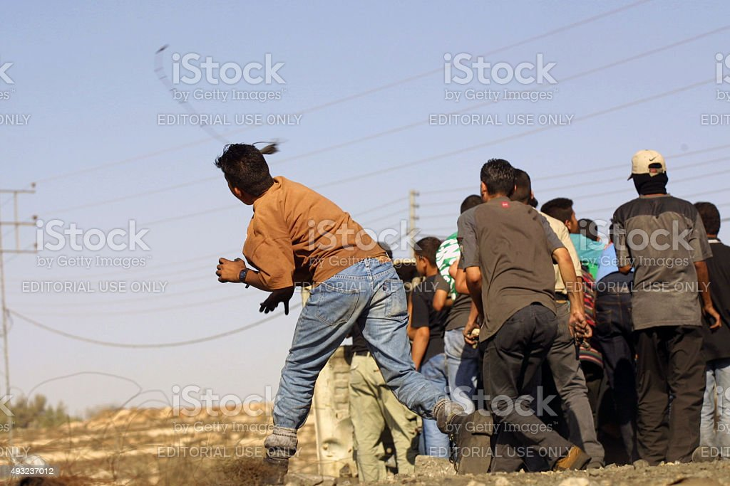 Second Intifada First Anniversary, Ramallah, Sept, 28, 2001 stock photo
