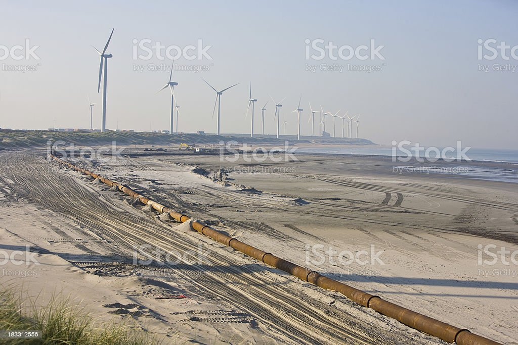 Second Maasvlakte in progress stock photo