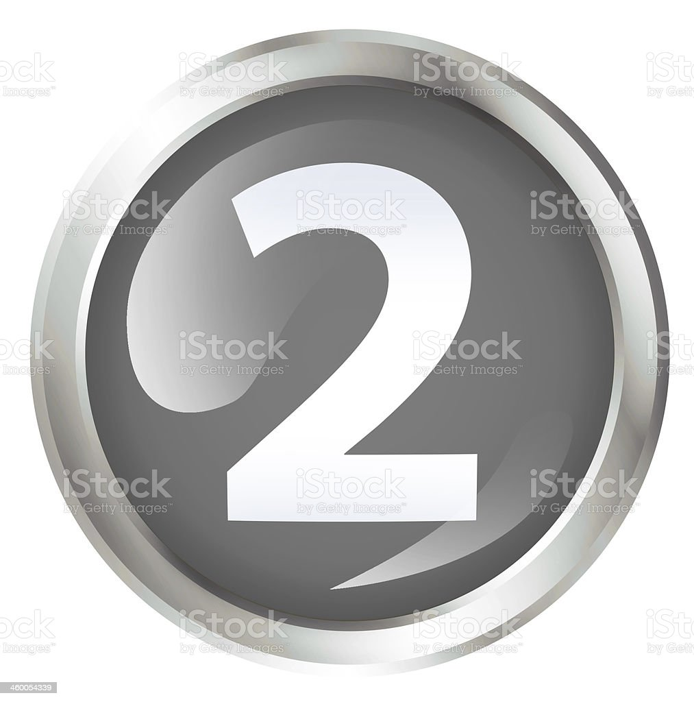 Second place icon royalty-free stock photo