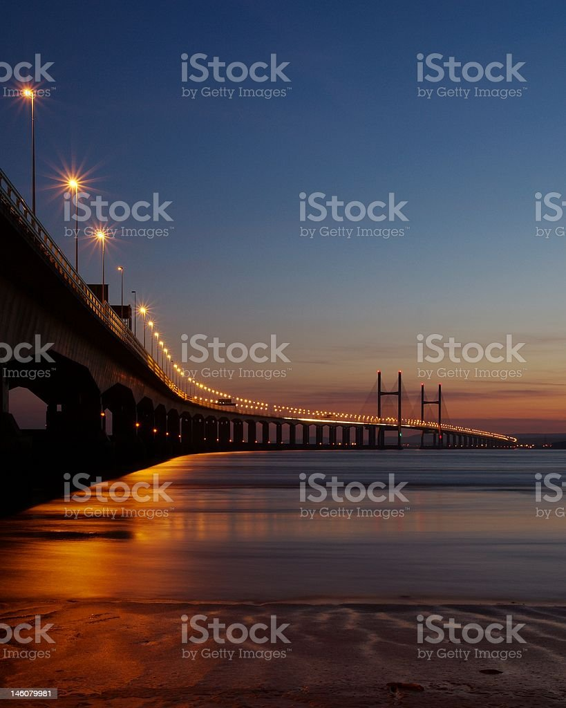 Second Severn Crossing, Bristol Channel, UK stock photo