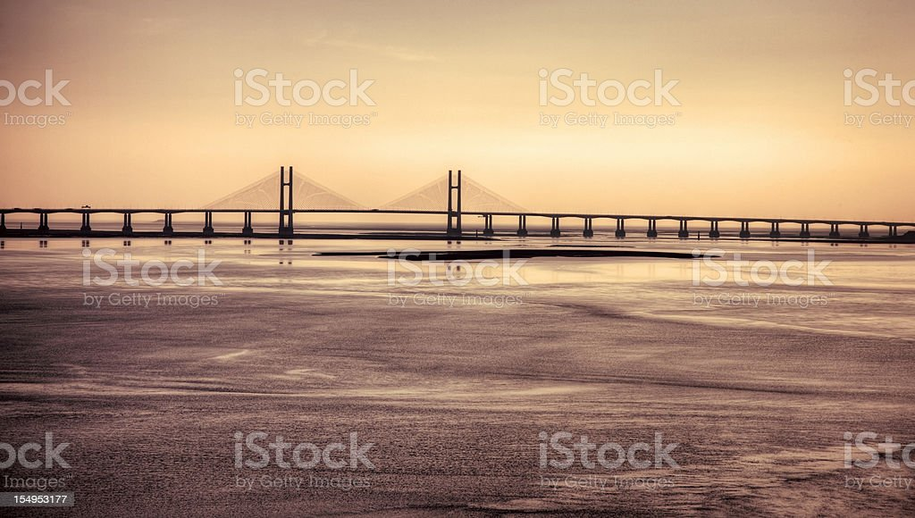Second Severn Crossing late afternoon light stock photo