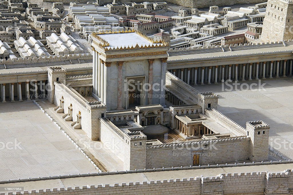 Second Temple. Ancient Jerusalem. stock photo