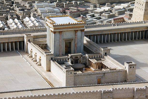 second temple. ancient jerusalem. - tapınak stok fotoğraflar ve resimler