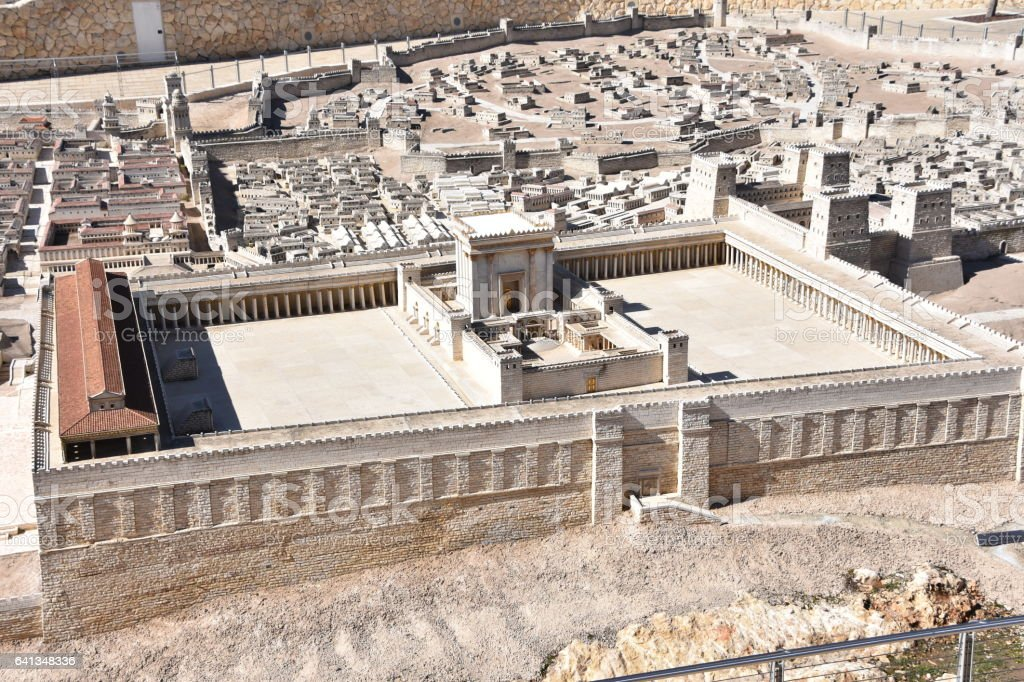 Second Temple. Ancient Jerusalem stock photo