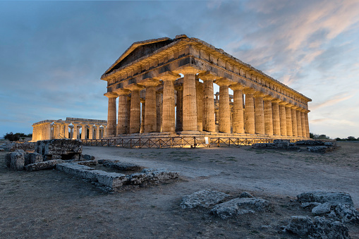 The Temple of Hera II (also erroneously called the Temple of Neptune), is a Greek temple in Paestum, Campania, Italy. The name Temple of Neptune is a misnomer from the 18th century, even though it was actually dedicated to the goddess Hera. It is listed as a UNESCO World Heritage site.