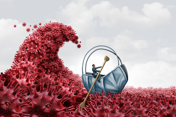 Second Wave Virus Surge stock photo