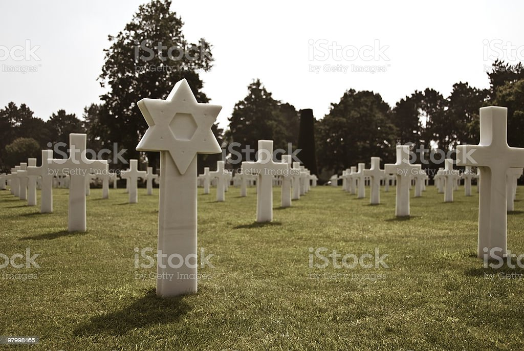 Second Wolrd War cementery in Normandy royalty-free stock photo