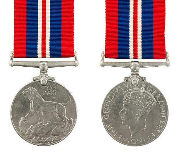1939-1945 Second World War Medal stock photo