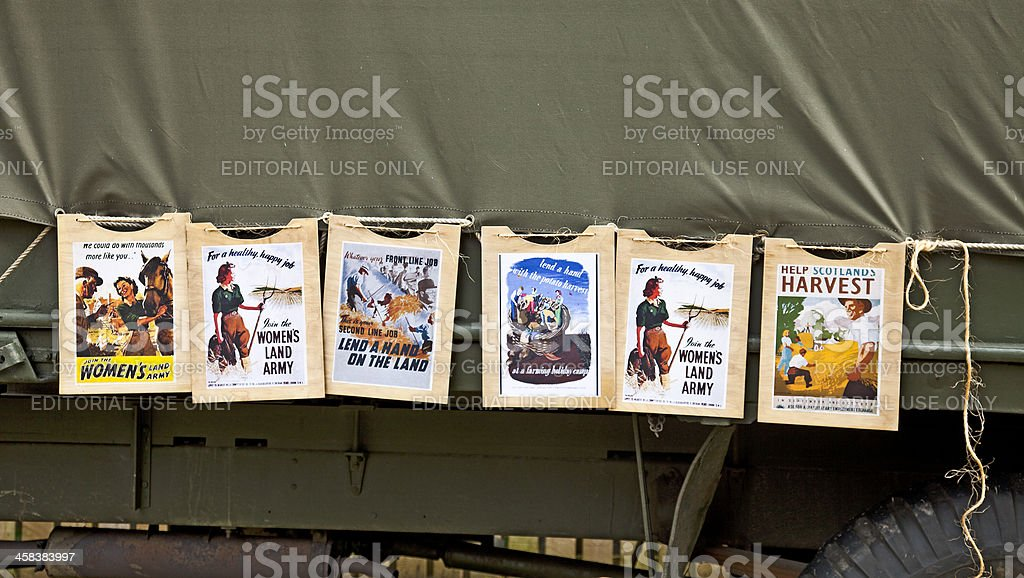 Second World War posters: Women's Land Army stock photo