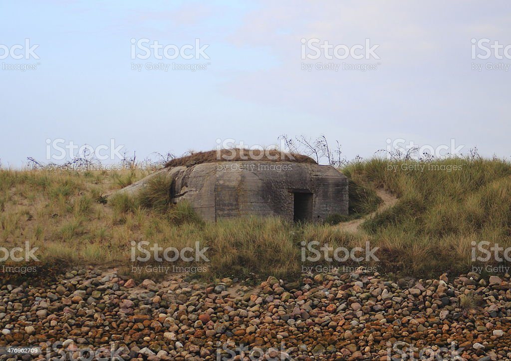 Second worldwar outpost at west coast af Denmark stock photo