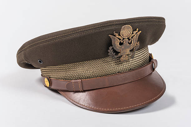 Second WWII Aviator Hat stock photo