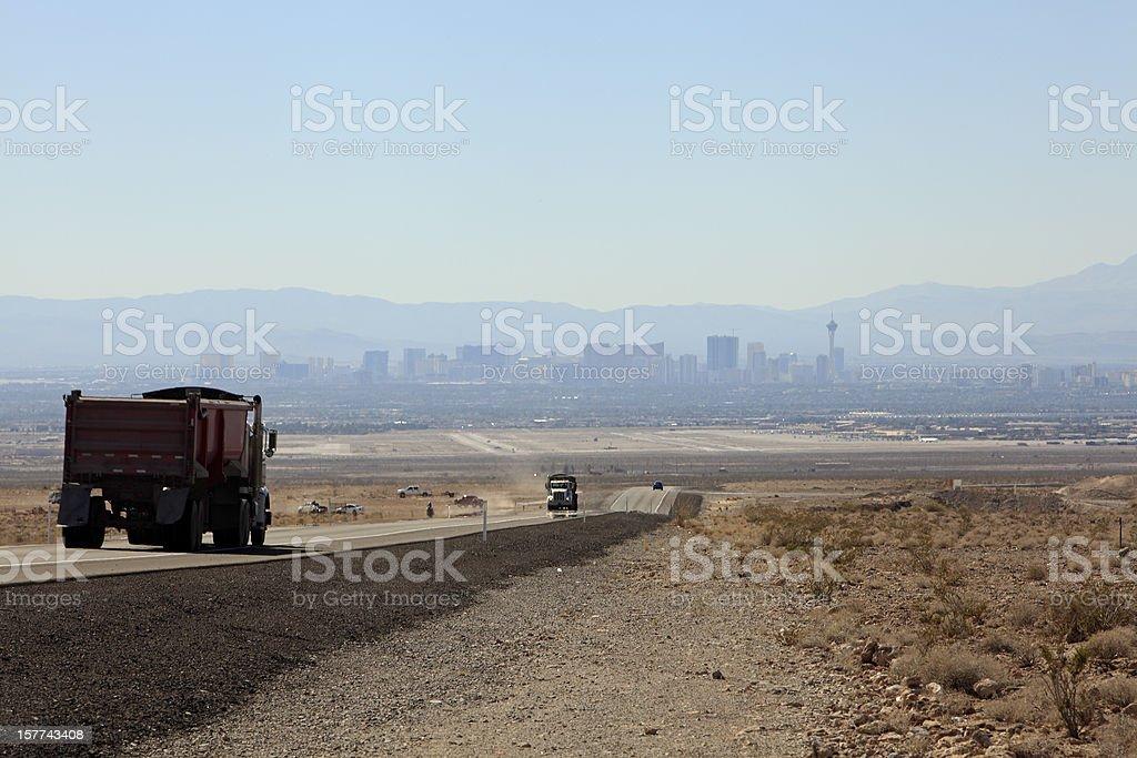 Secondary Highway Into Las Vegas royalty-free stock photo