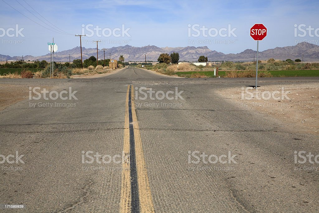 Secondary Roads Crossing Rural America stock photo