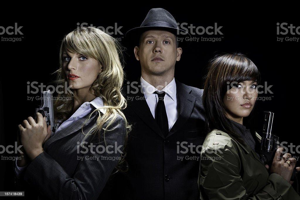 Secret agents royalty-free stock photo