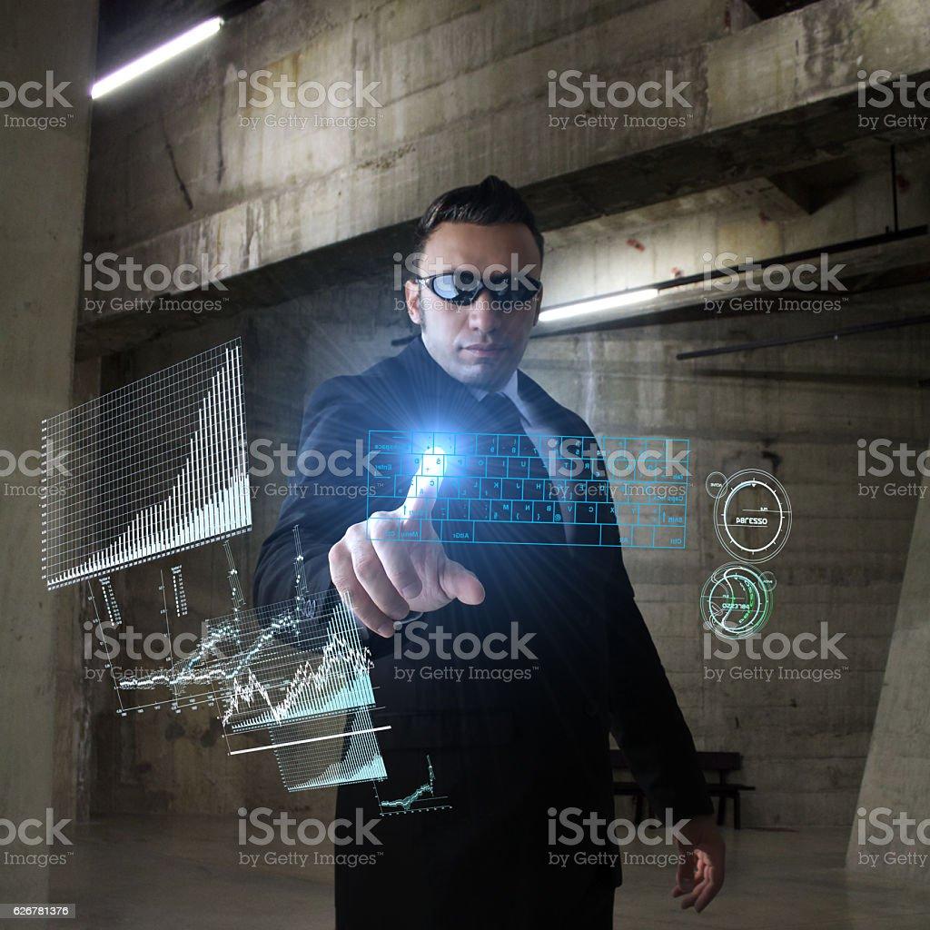 Secret Base and Spy stock photo