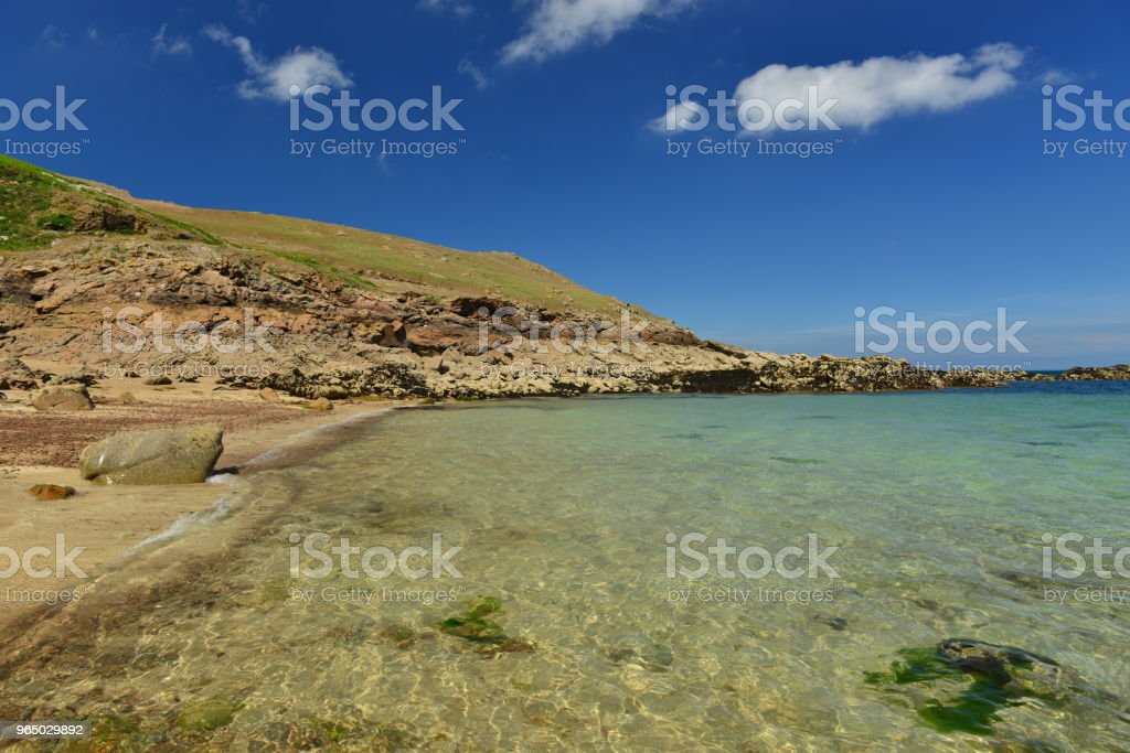 Secret bay, Jersey, U.K. royalty-free stock photo