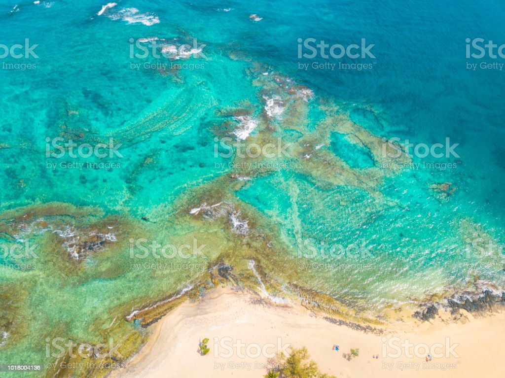 Secret Beach - Hawaii stock photo