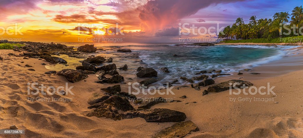 Secret Beach Ko Olina stock photo
