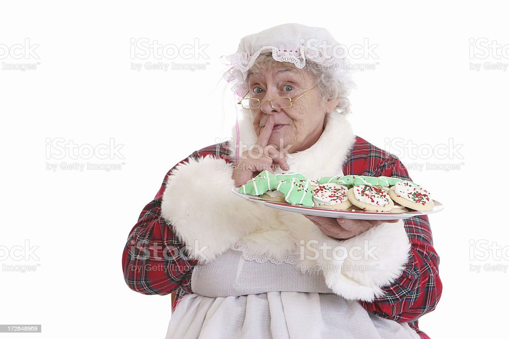 Secret Cookies Mrs Claus royalty-free stock photo