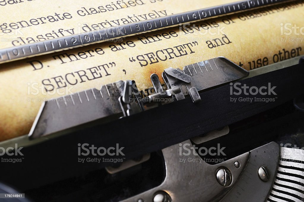 Secret document royalty-free stock photo