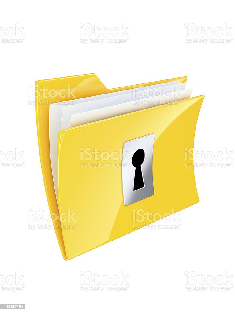 Secret folder stock photo