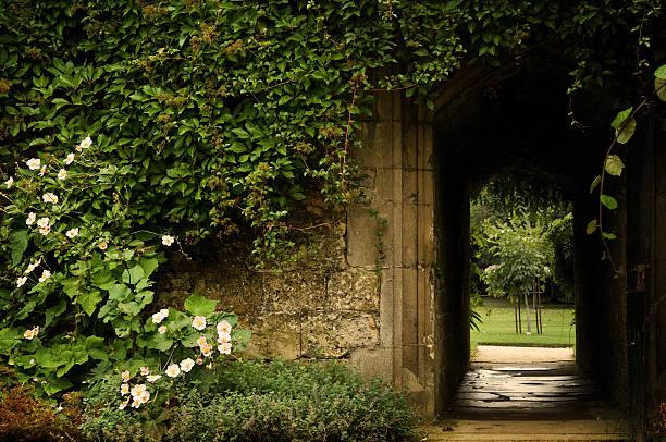 Secret Garden Door stock photo